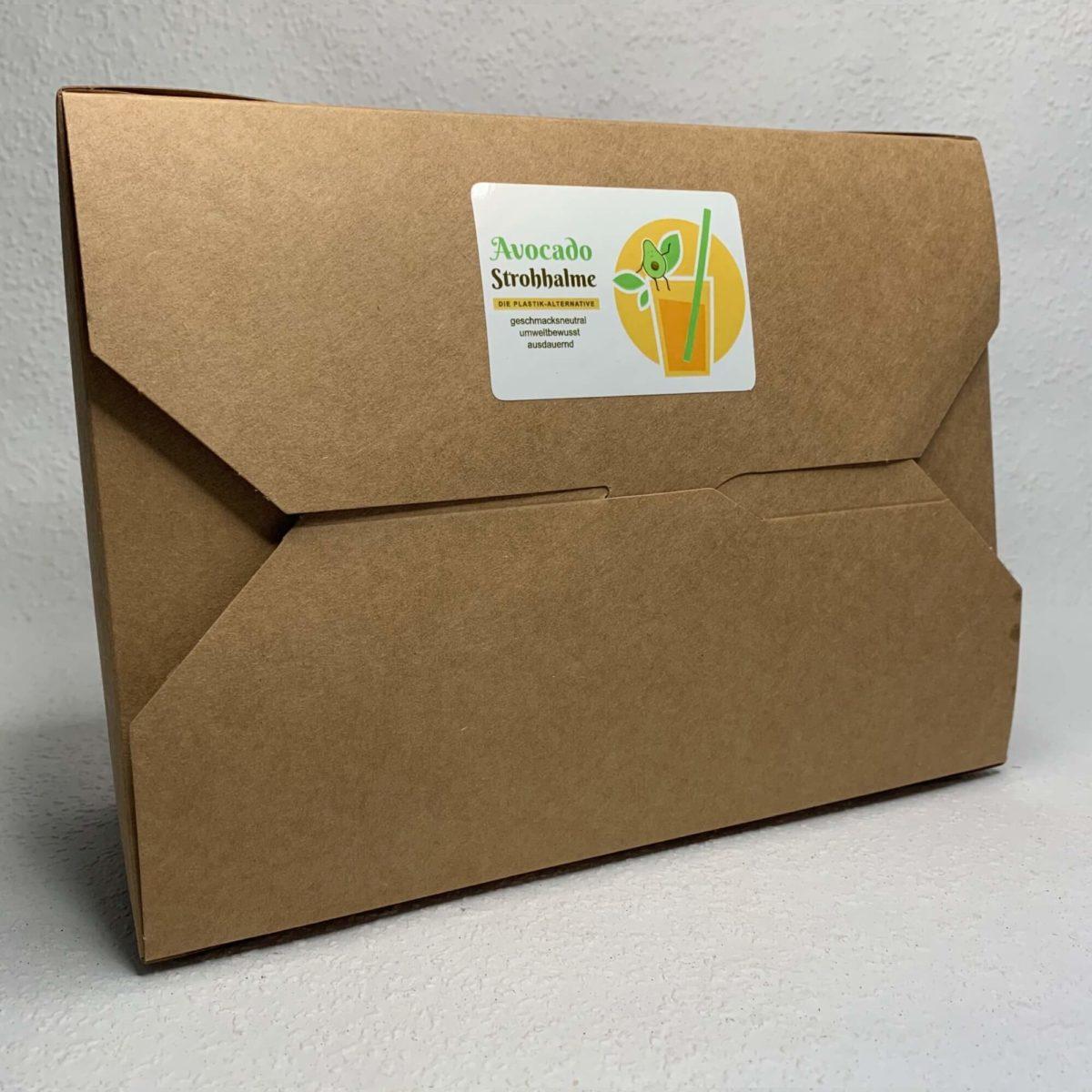 Praktische Avocado-Strohhalm Packung