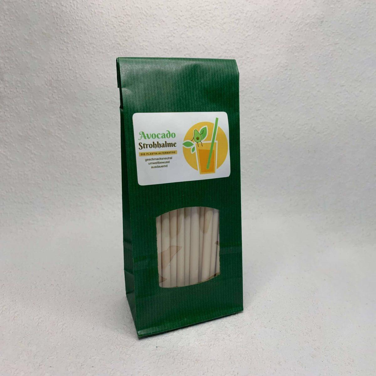 Umweltfreundliche Avocado Strohhalme Verpackung
